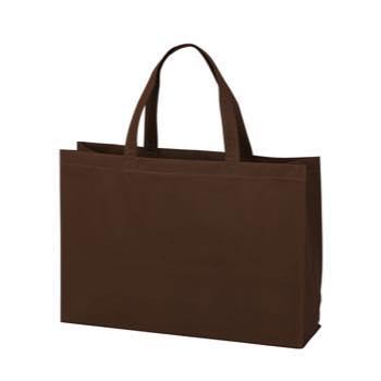 ベーシック不織布トートバッグ100 中横:ダークブラウンの商品画像