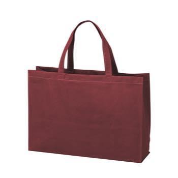 ベーシック不織布トートバッグ100 中横:ボルドーの商品画像