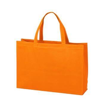 ベーシック不織布トートバッグ100 中横:オレンジの商品画像