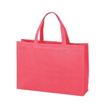 ベーシック不織布トートバッグ100 中横:ローズピンクの商品画像