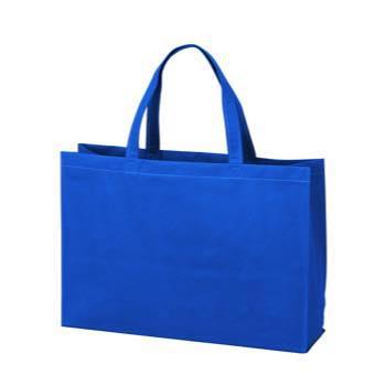 ベーシック不織布トートバッグ100 中横:ブルーの商品画像
