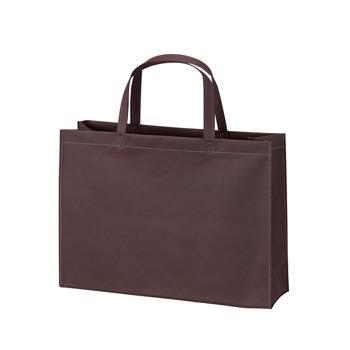 ベーシック不織布トートバッグ100 A4横:ダークブラウンの商品画像