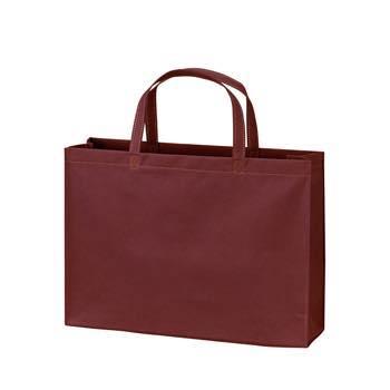 ベーシック不織布トートバッグ100 A4横:ボルドーの商品画像