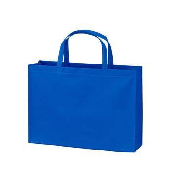 ベーシック不織布トートバッグ100 A4横:ブルーの商品画像