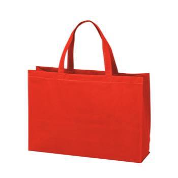 ベーシック不織布トートバッグ75 中横:アカの商品画像