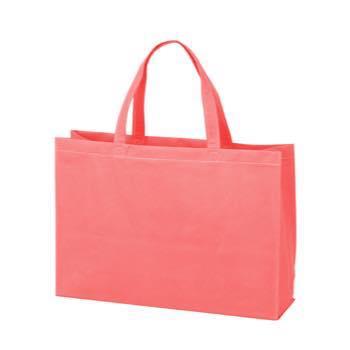ベーシック不織布トートバッグ75 中横:ピンクの商品画像