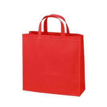 ベーシック不織布トートバッグ75 小:アカの商品画像