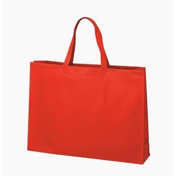 ベーシック不織布トートバッグ75 大:アカの商品画像