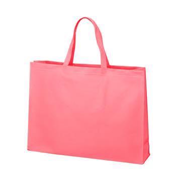 ベーシック不織布トートバッグ75 大:ピンクの商品画像