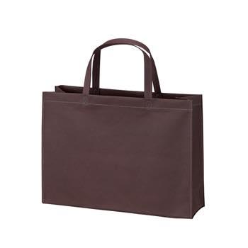 ベーシック不織布トートバッグ75 A4横:ダークブラウンの商品画像