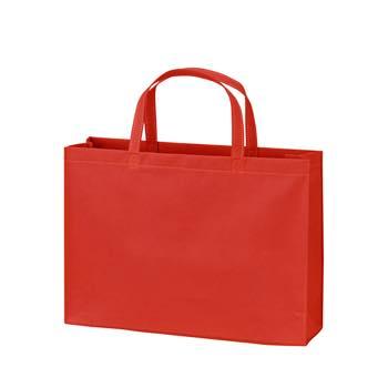 ベーシック不織布トートバッグ75 A4横:アカの商品画像
