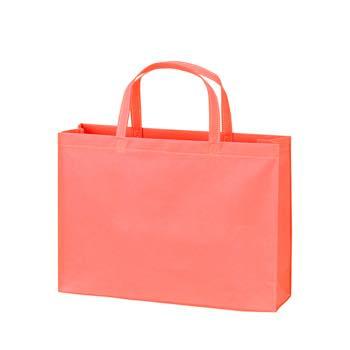 ベーシック不織布トートバッグ75 A4横:ピンクの商品画像