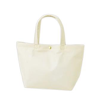 カジュアル不織布トートバッグ 特小:ホワイト プラホック:白の商品画像