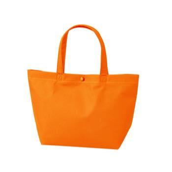 カジュアル不織布トートバッグ 特小:オレンジ プラホック:白の商品画像