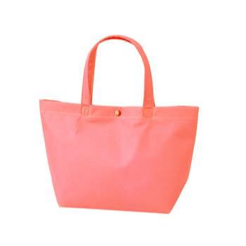 カジュアル不織布トートバッグ 特小:ピンク プラホック:白の商品画像