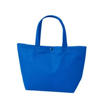 カジュアル不織布トートバッグ 特小:ブルー プラホック:黒の商品画像