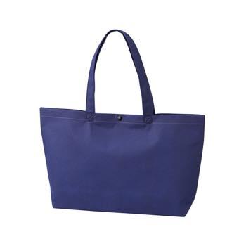 カジュアル不織布トートバッグ A4横:コン プラホック:黒の商品画像
