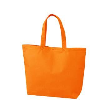 カジュアル不織布トートバッグ 小:オレンジ プラホック:白の商品画像
