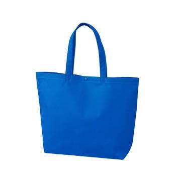 カジュアル不織布トートバッグ 小:ブルー プラホック:黒の商品画像