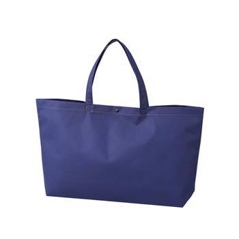 カジュアル不織布トートバッグ 中横:コン プラホック:黒の商品画像