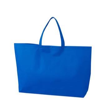 カジュアル不織布トートバッグ 大:ブルー プラホック:黒の商品画像