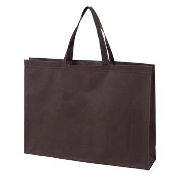 ベーシック不織布トートバッグ100 大:ダークブラウンの商品画像