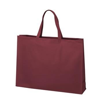 ベーシック不織布トートバッグ100 大:ボルドーの商品画像