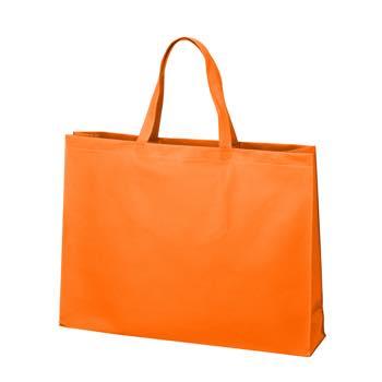ベーシック不織布トートバッグ100 大:オレンジの商品画像