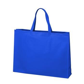ベーシック不織布トートバッグ100 大:ブルーの商品画像