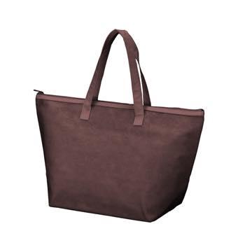 カラークール 不織布トートバッグ 中:ブラウンのメイン画像