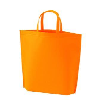 シンプル不織布トートバッグ  小:オレンジの商品画像