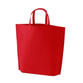 シンプル不織布トートバッグ  小:レッドの商品画像