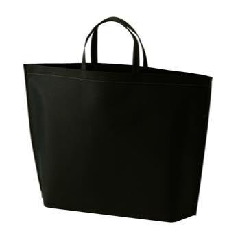 シンプル不織布トートバッグ  大:ブラックの商品画像