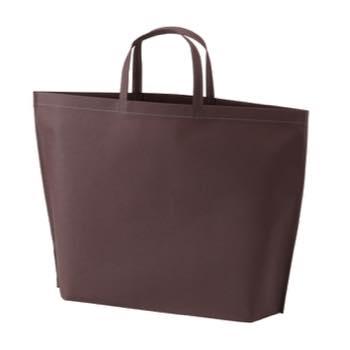 シンプル不織布トートバッグ  大:ダークブラウンの商品画像