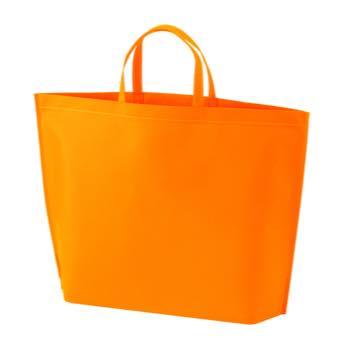 シンプル不織布トートバッグ  大:オレンジの商品画像