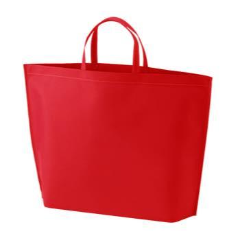 シンプル不織布トートバッグ  大:レッドの商品画像