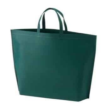 シンプル不織布トートバッグ  大:グリーンの商品画像