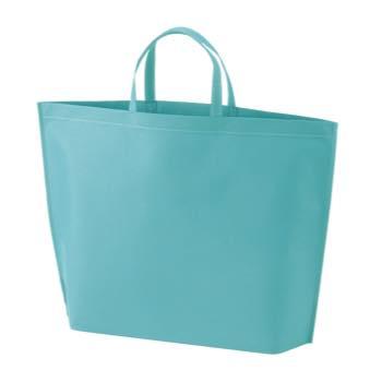 シンプル不織布トートバッグ  大:ライトブルーの商品画像