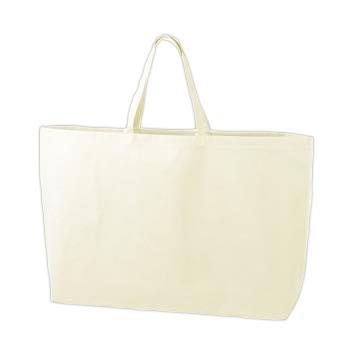 シンプル不織布トートバッグ  特大:ホワイトの商品画像