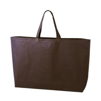 シンプル不織布トートバッグ  特大:ダークブラウンの商品画像