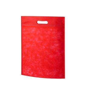 小判抜き不織布バッグA4:アカの商品画像