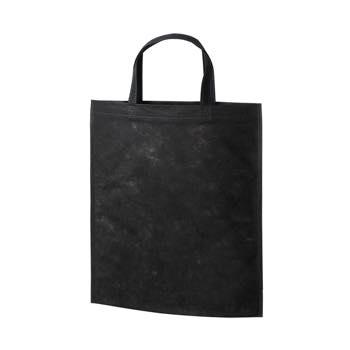 持ち手付き不織布バッグA4 40G:ブラックの商品画像