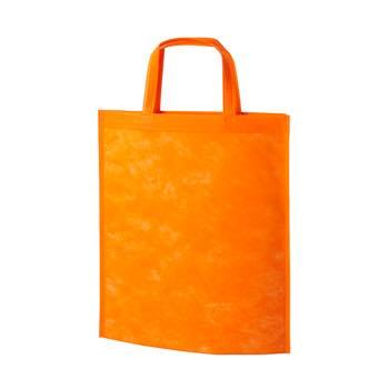 持ち手付き不織布バッグA4 40G:オレンジの商品画像