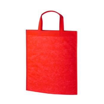 持ち手付き不織布バッグA4 40G:アカの商品画像