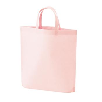 シンプル不織布トートバッグ A4縦:ライトピンクのメイン画像