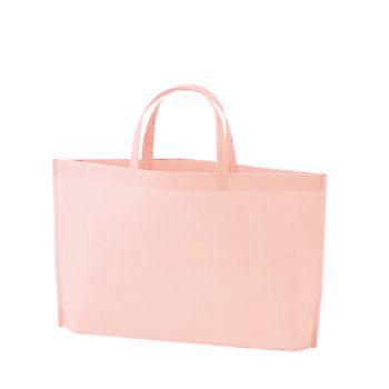 シンプル不織布トートバッグ A4横:ライトピンクの商品画像