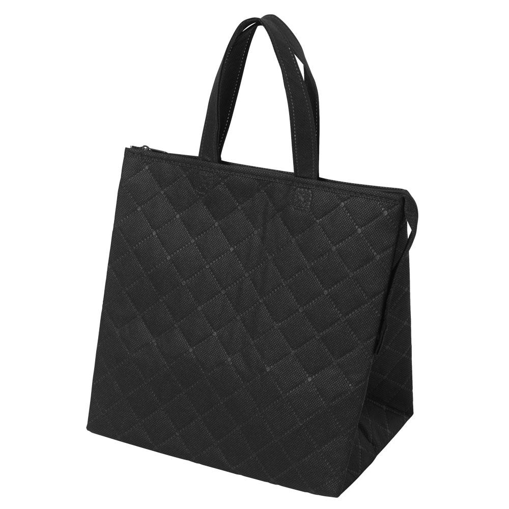 保冷バッグ カラークールキルトバッグ小:黒のメイン画像