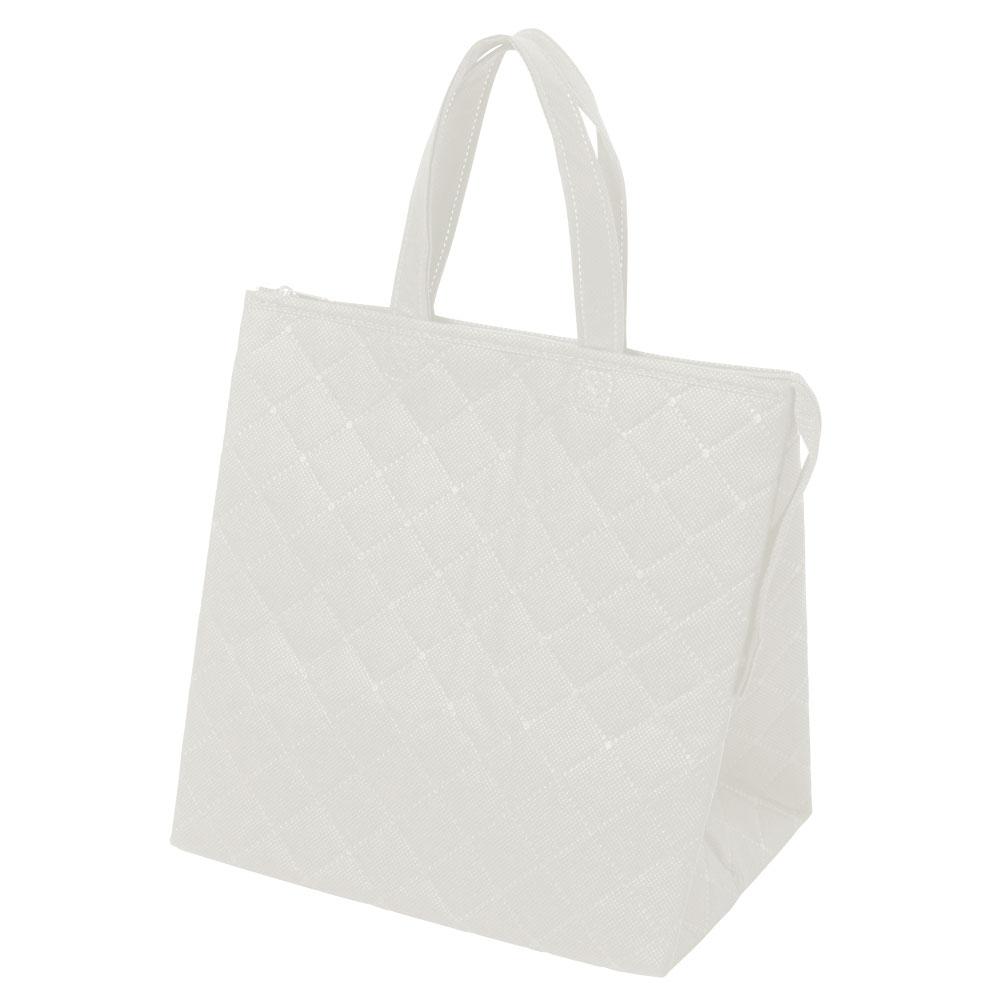 保冷バッグ カラークールキルトバッグ小:白のメイン画像
