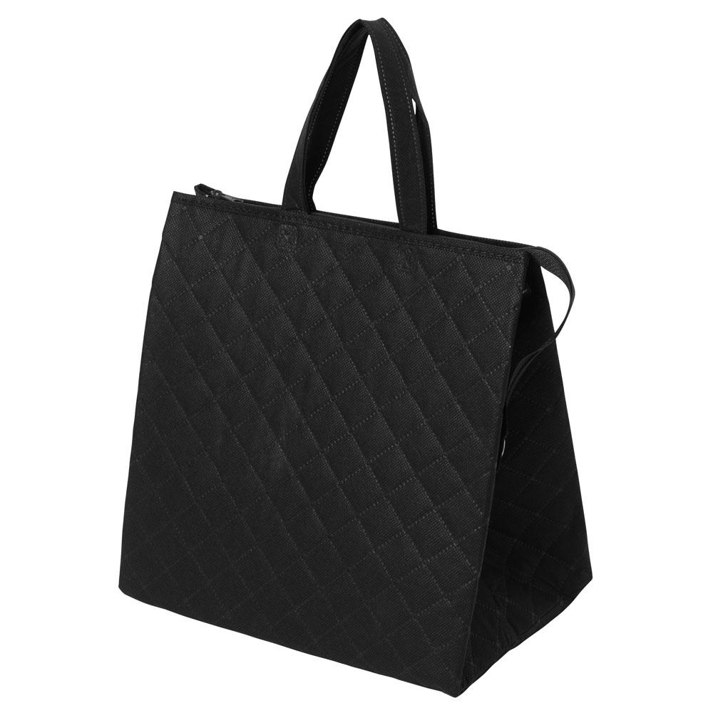 保冷バッグ カラークールキルトバッグ中 :黒の商品画像