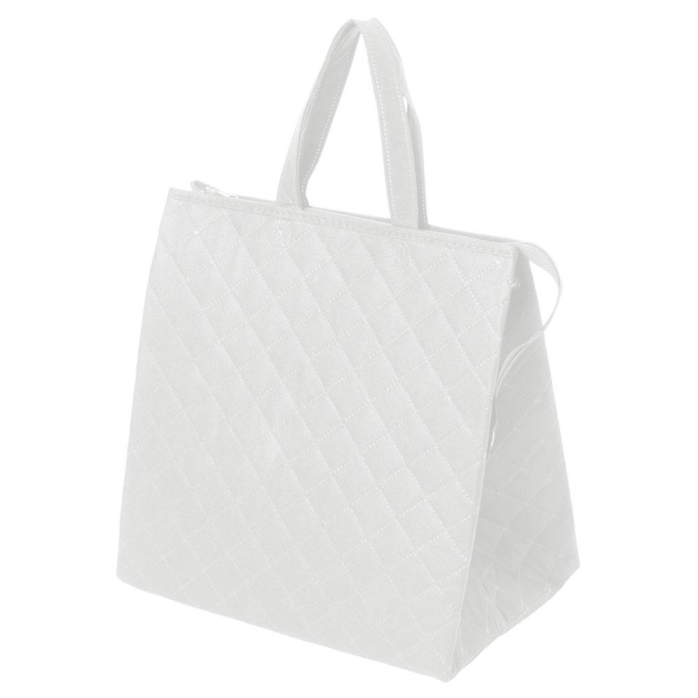 保冷バッグ カラークールキルトバッグ中 :白の商品画像